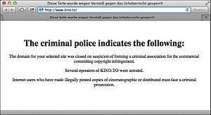 Gesellschaft zur Verfolgung von Urheberrechtsverletzungen e.V. - Message from the Criminal Police