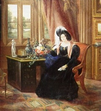 Kiplin Hall - Sarah Carpenter, Lady Tyrconnell, in the Gothic Drawing Room of Kiplin Hall, 1833.