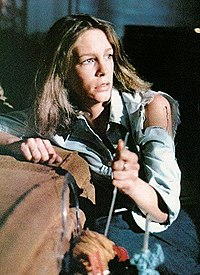 jamie lee curtis in her feature film debut plays laurie strode the heroine of the film - Who Wrote The Halloween Theme Song