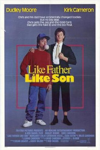 Like Father Like Son (1987 film) - Theatrical release poster