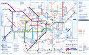 Tube map - Tube map as of May 2016