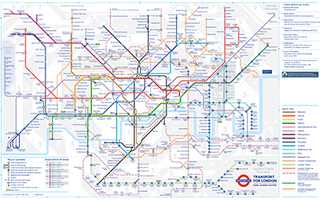 schematic transit diagram of the London Underground