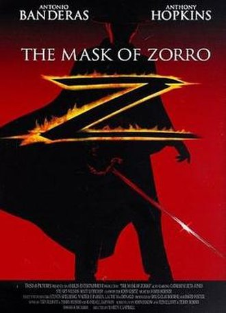 The Mask of Zorro - Theatrical release poster