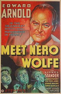 <i>Meet Nero Wolfe</i> 1936 film by Herbert Biberman