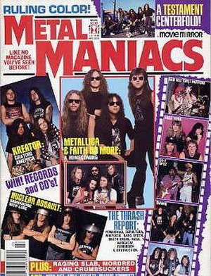 Metal Maniacs - Metal Maniacs cover of March 1989