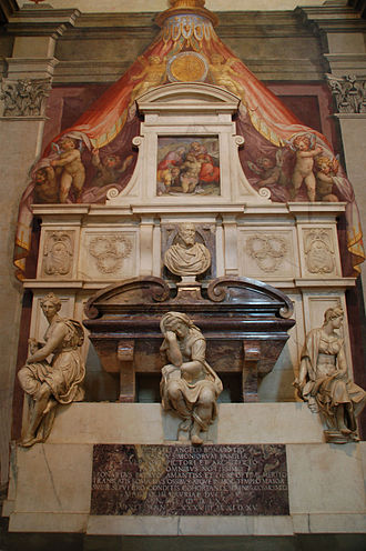 Santa Croce, Florence - Michelangelo's tomb
