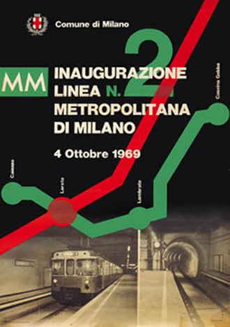 Milan Metro Line 2 - Opening poster for the new line.