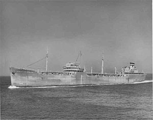 USNS Mission Los Angeles (T-AO-117) underway off Long Beach, California, date unknown