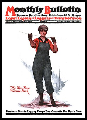 Loyal Legion of Loggers and Lumbermen - The LLLL and the Spruce Production Division issued a monthly magazine during 1918 called the Monthly Bulletin.