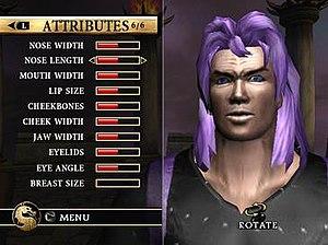 Mortal Kombat: Armageddon - A sample custom character from early screenshots