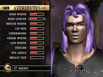 Mortal Kombat: Armageddon - A sample custom character from early screenshots