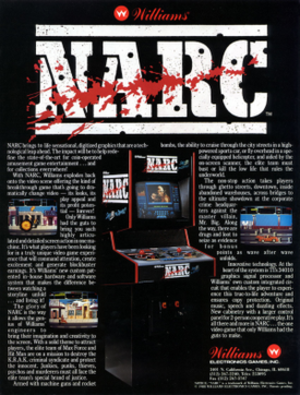 Narc (video game) - Arcade flyer for Narc