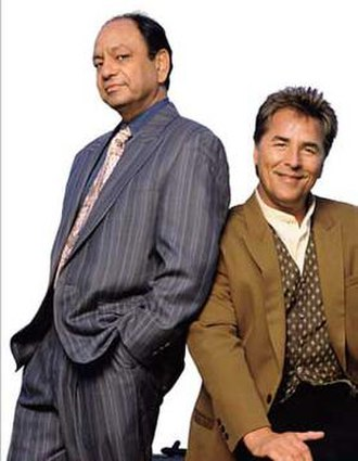 Nash Bridges - Cheech Marin (left) with Don Johnson.