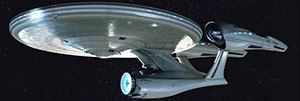 "USS Enterprise (NCC-1701) - The re-conceptualized, ""alternate universe"" Enterprise in the 2009 Star Trek film"