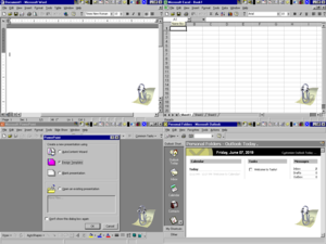 Microsoft Office 2000 running on Windows NT 4.0, with the Office Assistant present