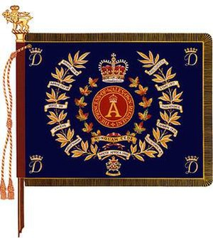 Princess of Wales' Own Regiment - The regimental colour of The Princess of Wales Own Regiment.