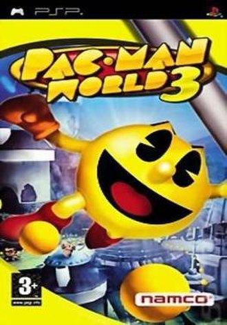 Pac-Man World 3 - PAL region cover of the PSP version.