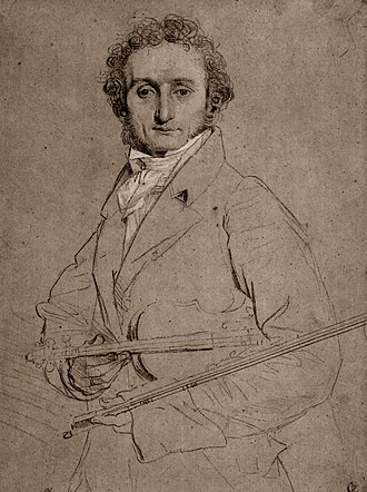 Hector Berlioz - Paganini, by Ingres