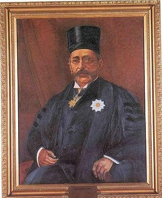 Pherozeshah Mehta - Mehta's portrait in the Rajya Sabha