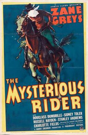 The Mysterious Rider (1938 film) - Theatrical release poster