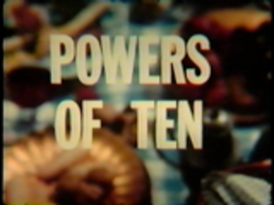 "Powers of Ten (film) - Title card for the 1977 ""Final"" version"
