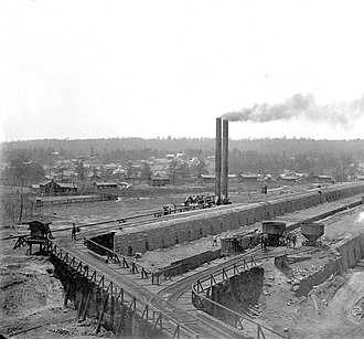 Tennessee Coal, Iron and Railroad Company - A coking plant of Pratt Co., TCI's first purchase in Alabama and the catalyst for its ultimate relocation there