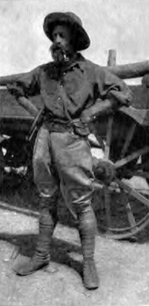 White hunter - R. J. Cunninghame in 1909