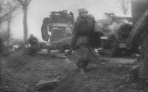 Ring of Red - An anti-AFW at the rear while German troops march in the countryside. The said AFW was placed on actual World War II combat footage by CGI with black and white rendering to give it an authentic feeling of the footage being taken in the late 1930s and 1940s.