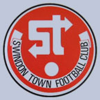 "Swindon Town F.C. - The ""traffic sign"" badge used from the mid-1970s until 1986"