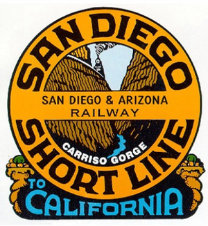 San Diego and Arizona Railway - Image: San Diego and Arizona Railway (logo)