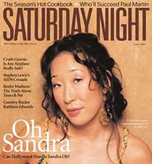 Saturday Night (magazine) - Image: Saturday Night magazine cover