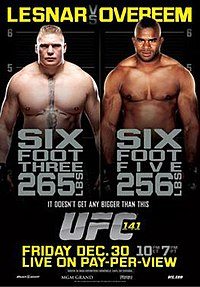 A poster or logo for UFC 141: Lesnar vs. Overeem.