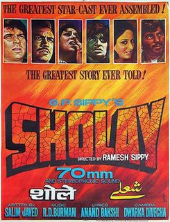 <i>Sholay</i> 1975 Hindi action-adventure film directed by Ramesh Sippy