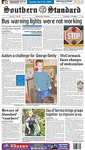 Southern standard newspaper mcminnville tennessee.jpg
