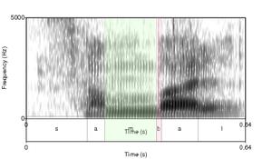 Prenasalized consonant - Image: Spectrogram non prenasalized consonant