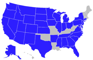 A map of states and cities where Wells Fargo o...