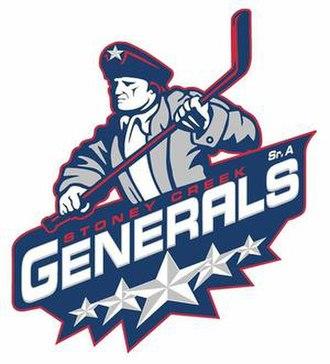 Stoney Creek Generals - Image: Stoney Creek Generals ACH Logo