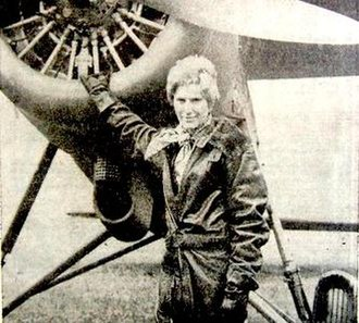 Amelia Earhart (miniseries) - Susan Clark in a promotional image for the production