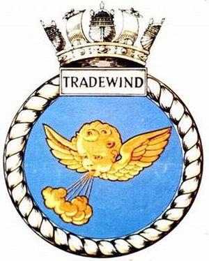 HMS Tradewind (P329) - Image: TRADEWIND badge 1