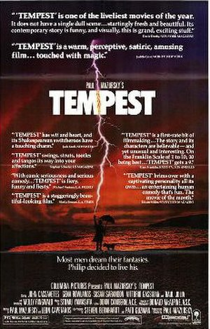 Tempest (1982 film) - Theatrical release poster