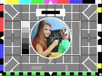 Test Card F - BBC Test Card F as seen on BBC One from 17 February 1991 to 4 October 1997.