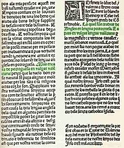 One of the first few pages of TirantloBlanch, by JoanotMartorell