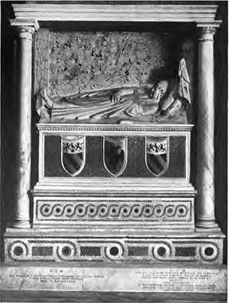 Arnolfo di Cambio - Tomb of Honorius IV (The columns and upper entablature are of a later date).