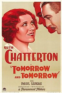 <i>Tomorrow and Tomorrow</i> (film) 1932 film by Richard Wallace