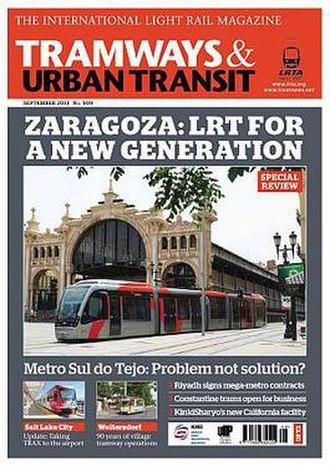 Tramways & Urban Transit - Image: Tramways and Urban Transit cover Sep 2013