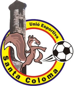 UE Santa Coloma - Old badge (until 2013).
