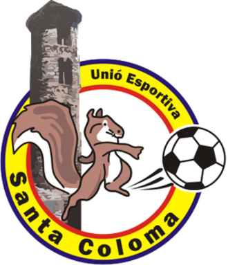 UE Santa Coloma - Old badge (until 2013).