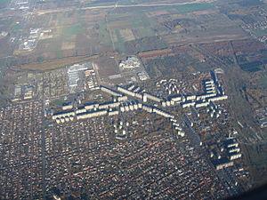 Újpalota - Aerial view of Újpalota