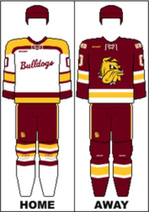 Minnesota–Duluth Bulldogs men's ice hockey - Image: WCHA Uniform UMD