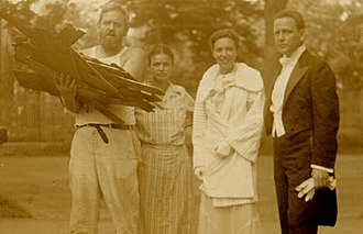 Waldo Peirce - Peirce with his brother and their wives, 1930s